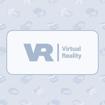 Design de decoração feito de fones de ouvido de realidade virtual isométrica