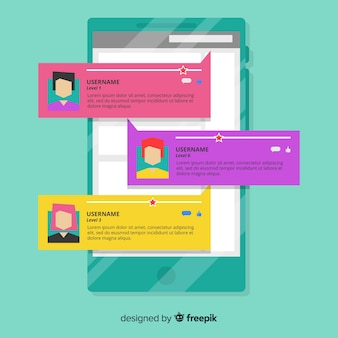 Design de depoimentos da web criativa
