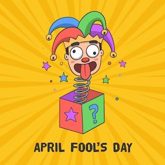 Design de desenho de dia de tolos de abril