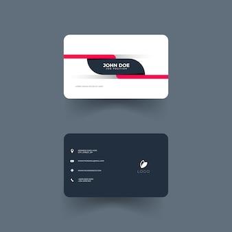 Design de design de cartão de visita simples e elegante