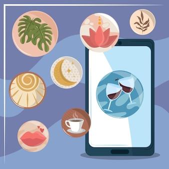 Design de destaques do smartphone