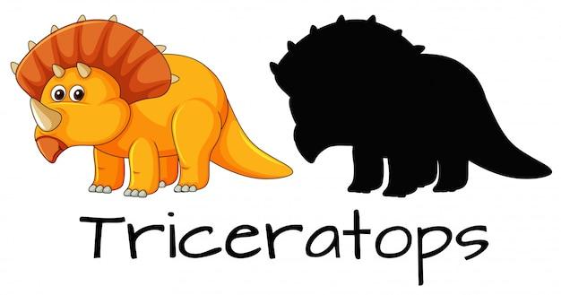 Design de dinossauro triceratops