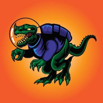 Design de dinossauros astronautas