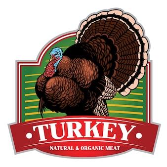 Design de distintivo de turquia