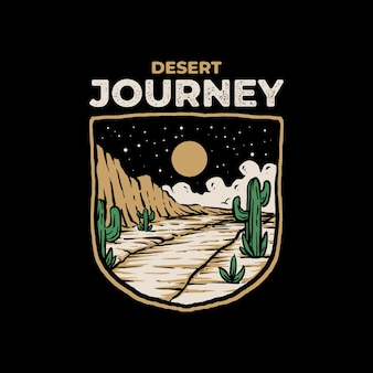 Design de distintivo de viagem no deserto