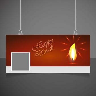 Design de diwali tampa do facebook
