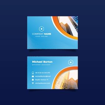 Design de edifícios para cartão de visita
