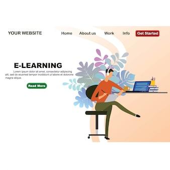 Design de educação on-line de design plano isométrico