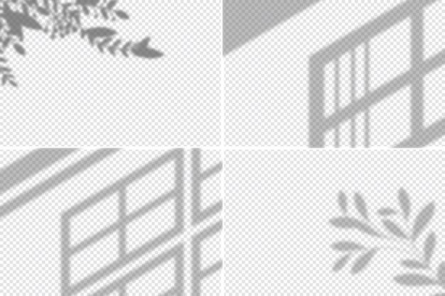 Design de efeito de sobreposição de sombras transparentes