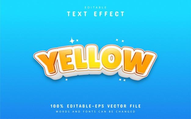 Design de efeito de texto amarelo