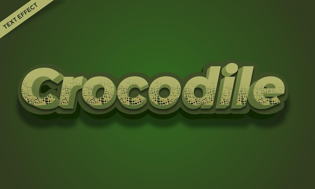 Design de efeito de texto de cor de crocodilo