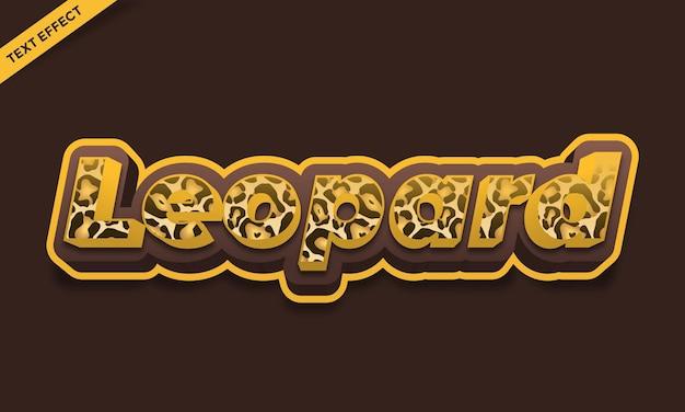 Design de efeito de texto de cor de pele de leopardo