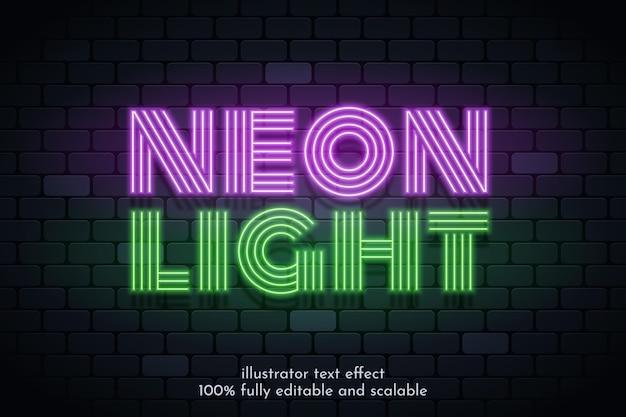Design de efeito de texto de luz neon