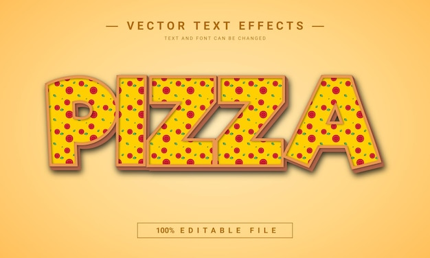 Design de efeito de texto de pizza