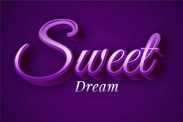 Design de efeito de texto de sonho doce