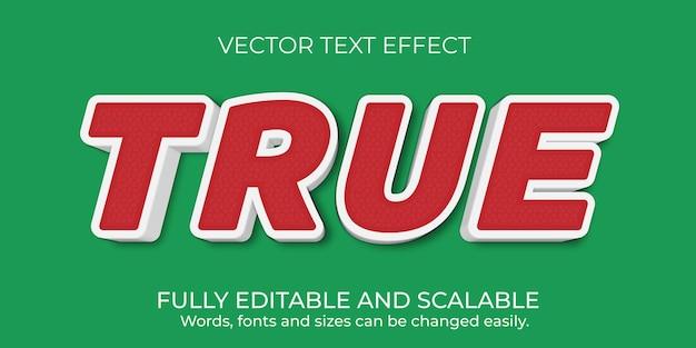 Design de efeito de texto editável de vetor premium