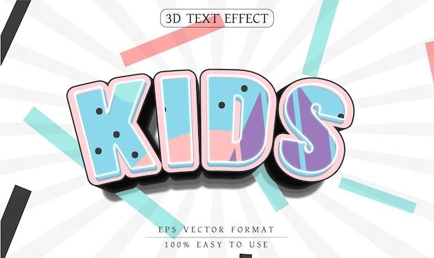 Design de efeito de texto editável para crianças