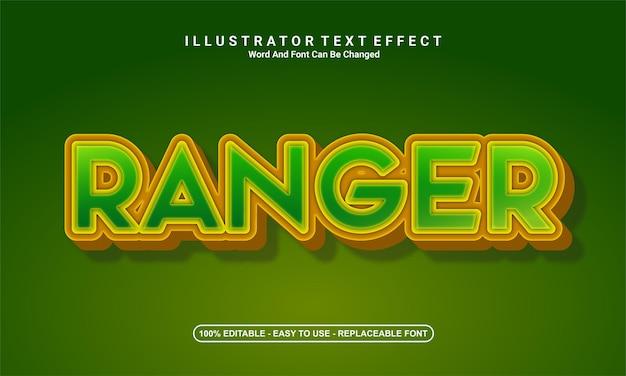 Design de efeito de texto moderno, ranger