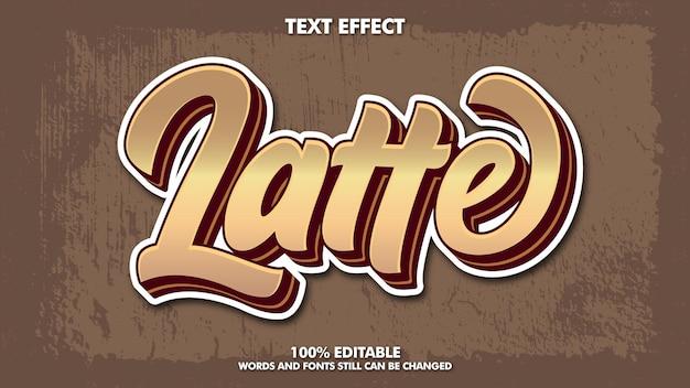 Design de efeito de texto retro vintage editável modelo de tipografia para título de cooffe