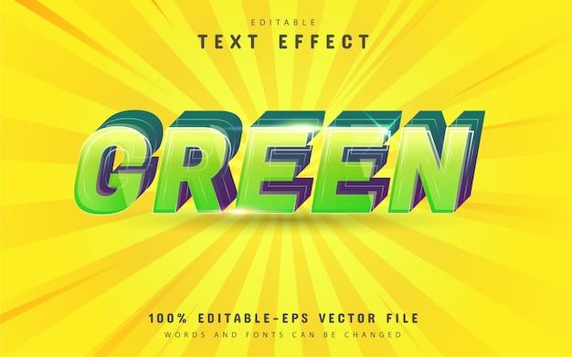 Design de efeito de texto verde