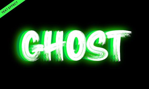 Design de efeito de texto vívido fantasma