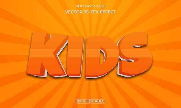 Design de efeitos de texto editáveis em 3d para crianças