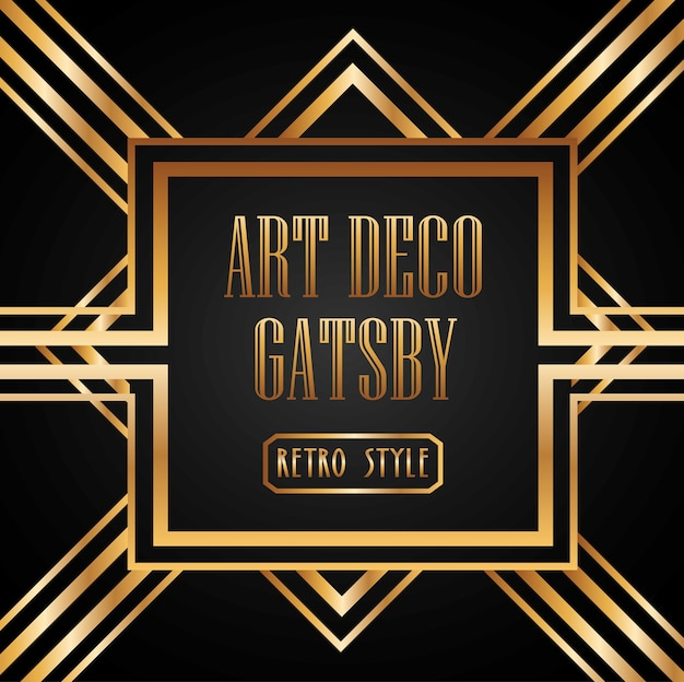 Design de elemento de art deco