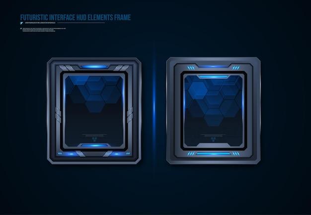 Design de elemento hud de interface de quadros de tecnologia futurista para jogos de interface do usuário