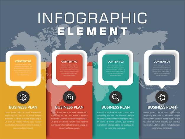 Design de elementos de infográfico da linha do tempo
