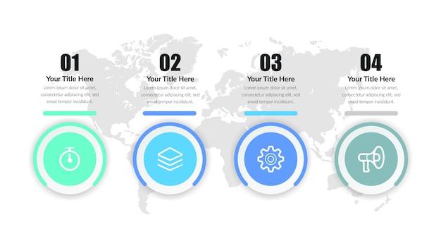Design de elementos de infográfico de negócios da linha do tempo