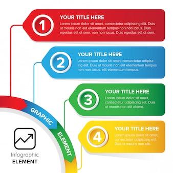 Design de elementos de modelo colorido infográfico