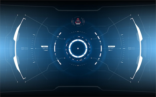 Design de elementos futuristas head-up display.