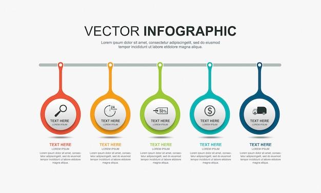 Design de elementos infográfico