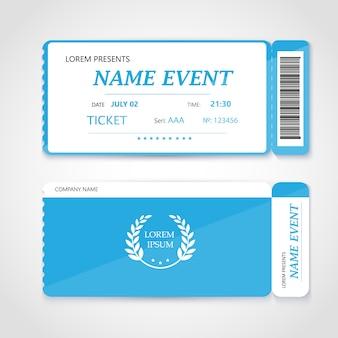 Design de elementos modernos de cartão de ingresso de cinema