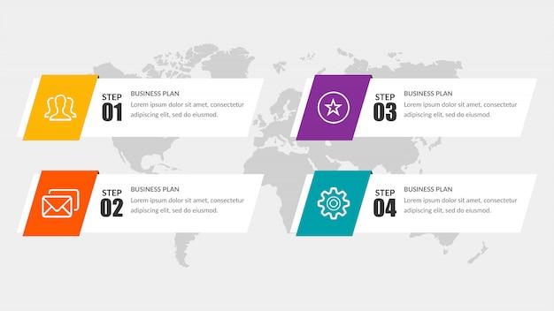 Design de elementos simples de infográfico da linha do tempo