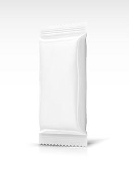 Design de embalagem de lanche em branco