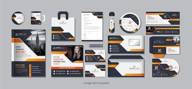 Design de embalagem estacionária 15 em 1 com formas criativas e simples