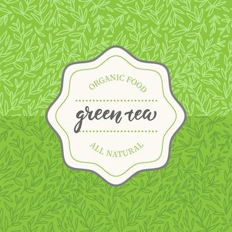 Design de embalagem para chá verde.