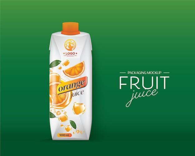 Design de embalagem suco de laranja
