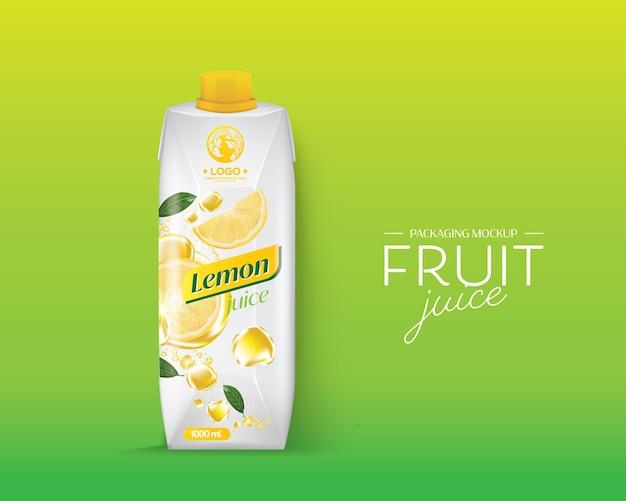 Design de embalagem suco de limão