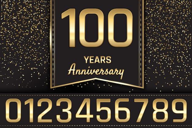 Design de emblema de aniversário de ouro