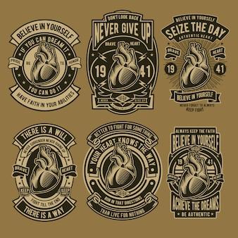 Design de emblema de coração