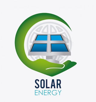 Design de energia verde.