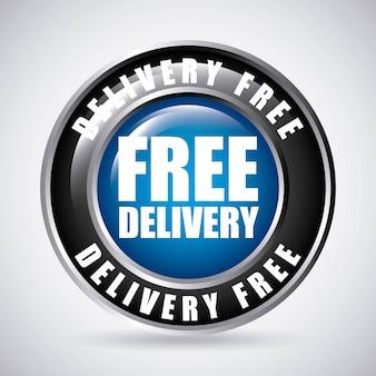 Design de entrega gratuita