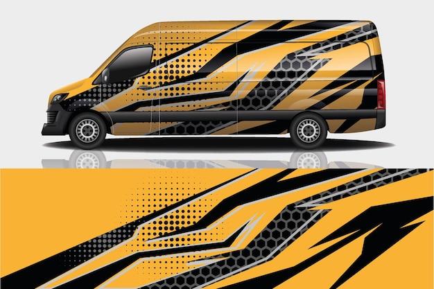 Design de envoltório de adesivos para van