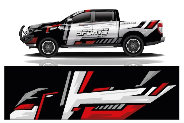Design de envoltório de carro de caminhão para empresa