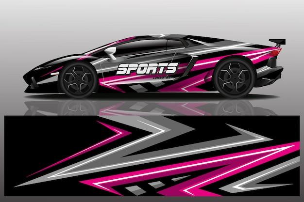 Design de envoltório de carro esporte