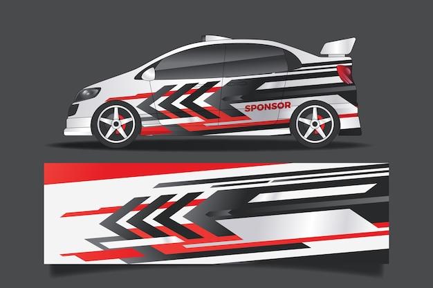 Design de envoltório de carro esportivo