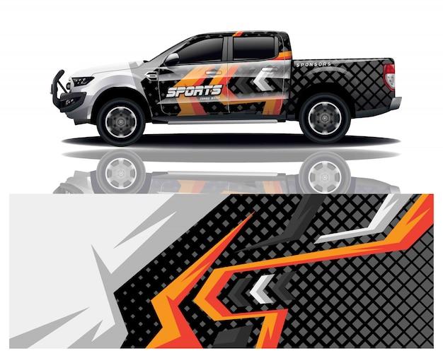 Design de envoltório de decalque de caminhão
