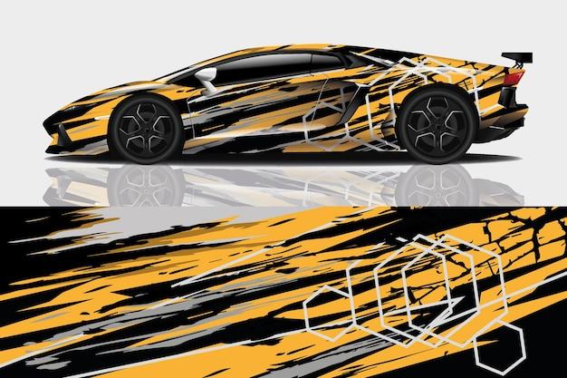 Design de envoltório de decalque de carro esportivo